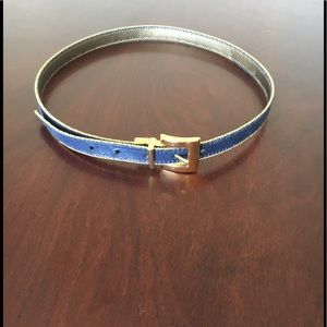 Accessories - Blue and gold belt